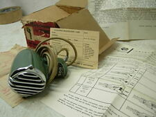 NOS 1960s OLSON BX CRYSTAL MICROPHONE BULLET HARP MIC TURNER BOX & PAPERWORK