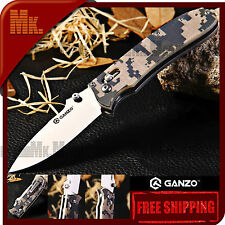 Authentic Knife GANZO G704-CA | 440C Steel | Axis Lock | G10 | Camouflage