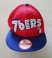 Philadelphia 76ers New Era 9FIFTY Adjustable Snapback Hat Cap Medium Large Red
