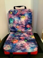 Double Folding Bingo Seat Cushion w/Cushion Back Carry Handles Cosmic Bingo