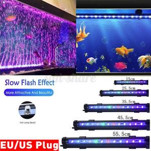 Aquarium Multicolor Fish Tank LED Lights Underwater Waterproof Air Bubble
