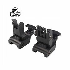 GVN Offset Front and Rear Sight Polymer Folding Tactical Flip up Sight Mount Set
