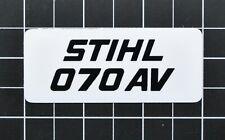 """Vinyl Sticker for Stihl/Farmertec 070 AV Shroud Plate """"Full Overlay"""""""