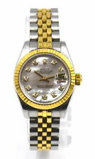 VINTAGE ROLEX OYSTER PERPETUAL DATEJUST 79173 WRISTWATCH MOTHER PEARL 18K SS