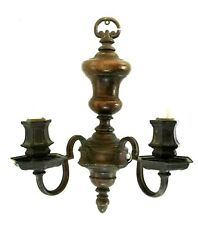Early Pair E.F. Caldwell Statuary Bronze Finish Sconces.