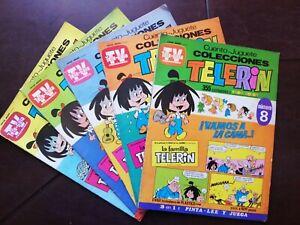 Vintage 5 dif LA FAMILIA TELERIN TV GUIDE mexican comic book from 70's