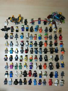 Huge Authentic Lego Minifigure Lot of 102 w/ Accessories Marvel DC Star Wars CMF
