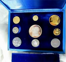 1971 Qatar Silver & Gold Dinar Coin Set Case Proof Royal Canadian Mint RARE