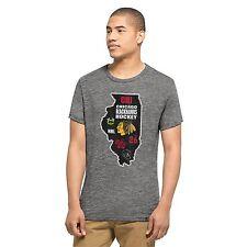 New NHL NWT Chicago Blackhawks  Men's 47 Brand Tri-State Tee T Shirt Medium M