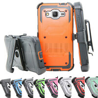 Shockproof Rugged Hybrid Hard Case Protective Cover Clip Holster For Samsung