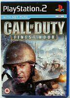 Call of Duty: Finest Hour (Sony PlayStation 2, 2004, PAL) PS2