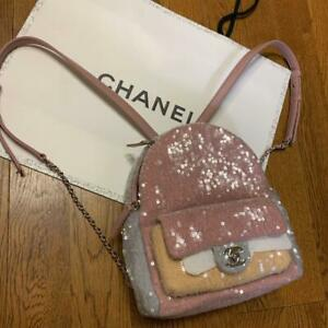 CHANEL Backpack Sequins Pink 2019 Spring Summer Limited [Brand-New]