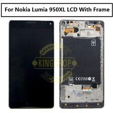Per Nokia Lumia 950 XL ORIGINALE DISPLAY LCD + Touch Screen Digitalizzatore Con Telaio