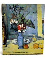 "Paul Cezanne Painting ""Le Vase Bleu"" Blue Vase With Flowers Print on Metal Sheet"