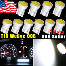 10pcs 6000K White T10 194 192 COB LED Dome Map License Plate Dash Light Bulbs