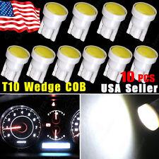10pcs T10 W5W 194 168 COB LED Car Instrument Dash Light Side Wedge Bulbs White