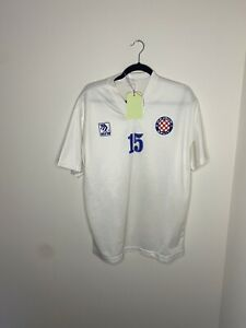 Small Mens Football Shirt Hajduk Split Matchworn Training 1993 Number 15 Maglia