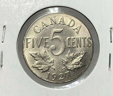 Canada 1927 Nickel 5 Cent Five Cents EF
