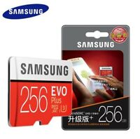 SAMSUNG EVO Plus MicroSD 256GB Speed for 4K UHS-3  Memory Card w/SD Adapter