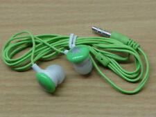 Green/Silver Earbuds in-ear headphones for MP3  music, ipod, 3.5mm