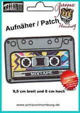 Retro Cassette Tap Kassette Patch Aufnäher old school Deutsche Qualität 9,5x6 cm