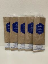 5 Hallmark Solid Brown/Taupe Any Occasion Tissue Paper/Gift Bag Filler Free Ship