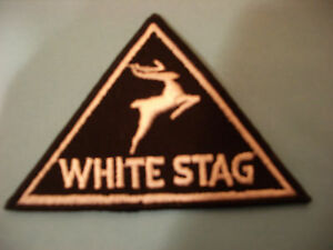 """""""WHITE STAG""""  DEER LOGO PATCH VINTAGE EMBROIDERY EMBLEM LOT (50 Patches)"""