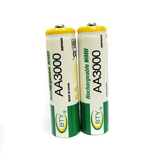 2 Ni-MH AA Size 3000mAh 1.2V rechargeable battery BTY Green