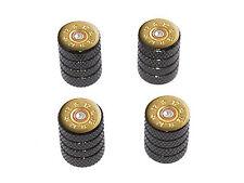 12 Gauge Bullet Shell (Image Only) Ammo Tire Rim Wheel Valve Stem Caps Black
