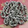 RARE!! 2x4mm Sterling Silver plated Farfalle Seed Beads