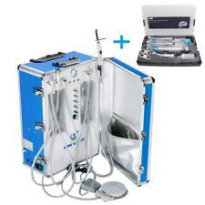Greeloy Portable Dental Unit With Air Compressor Gu P206s Handpieces Set 4h Us