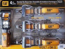 CAT 4x Ratchet Tie Down Strap 38mm X 4.9m HEAVY DUTY Trailer