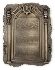 Hippocratic Oath Plaque Wall Decor Hippocrates Statue Sculpture - Doctor Gift