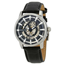 Invicta Objet D Art Automatic Black Skeleton Dial Mens Watch 22641