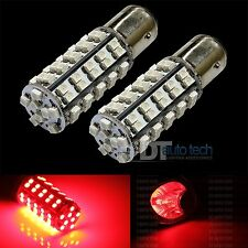 2X 1157 Red 68-SMD Turn Signal Blinker Brake LED Light Bulbs