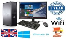 CHEAP FULL DELL/HP DUAL CORE DESKTOP TOWER PC & TFT COMPUTER SYSTEM WINDOWS 10 &