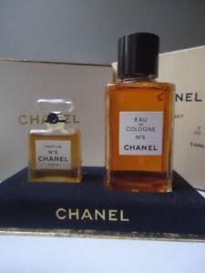 Priceless Rare CHANEL No5 Vintage 1960s 7cc Parfum & 60cc EDC Boxset New Nr Mint