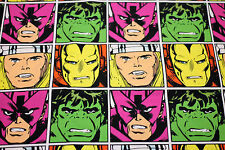 Fabric Marvel Comic Avengers Faces Hulk Cotton Fat Quarter Quilting Material