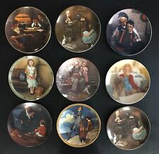 9 Vintage Knowles Limited Edition Collector Plates Norman Rockwell Fine China