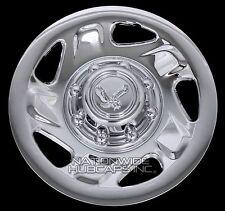 """4 New Ford Truck Van 16"""" 8 Lug Chrome Wheel Covers Full Hub Caps for Steel Rim"""