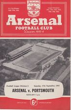 ARSENAL v PORTSMOUTH ~ 17 SEPTEMBER 1955 ~ FOOTBALL PROGRAMME (1)