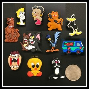 10 Shoe Charms for Crocs CARTOONS Garfield Road Runner Tom Jerry Scooby Betty