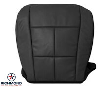 2007 2008 Linc Navigator -Driver Side Bottom Leather Seat Cover Black Perforated