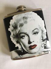 Marilyn Monroe Red Lip Vintage Photo 6 Oz Stainless Steel Flask Screw On Cap