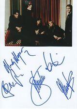 "Gotthard (""con Steve Lee"") autógrafos signed 15x21 cm tarjeta de índice"