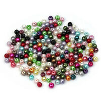 500pcs Mixed Colour Round Glass Pearl Loose Beads 4mm Spacer Fit Jewelry HY