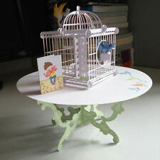 3D Table Birdcage Pop Up Greeting Card Birthday Wedding Handmade Postcard O3N