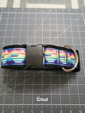 "Omies 2"" Wide Heavyduty ""Rainbow Hearts"" Themed Dog Collar 16""-26"" USA MADE"