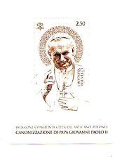 Vaticano congiunta Polonia Canonizzazione  Giovanni Paolo II foglietto bianco