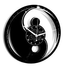 Orologio da Parete in Vinile - Idea Regalo - Yin Yang Boho Mandala Hamsa